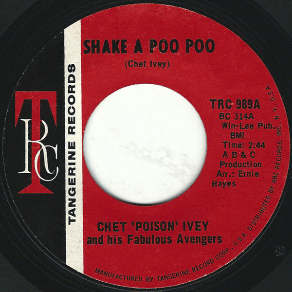 "Chet Ivey & His Fabulous Avengers : Shake A Poo Poo / Handle With Care (7"", Single, Styrene, She)"