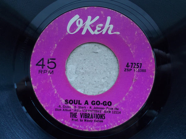 "The Vibrations : Soul A Go-Go (7"", Single, Pol)"