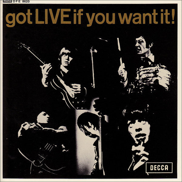 "The Rolling Stones : Got Live If You Want It! (7"", EP, Mono)"