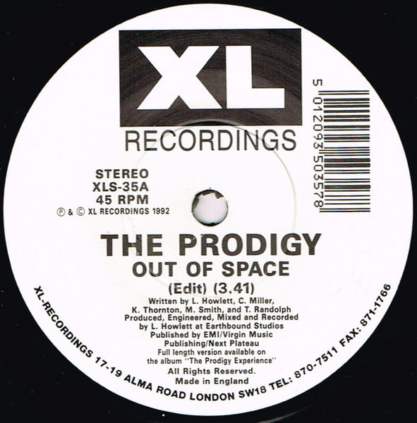 "The Prodigy : Out Of Space (7"", Single)"