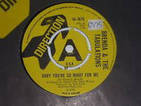 "Brenda & The Tabulations : Baby You're So Right For Me (7"", Single, Promo)"
