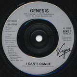"Genesis : I Can't Dance (7"", Single)"