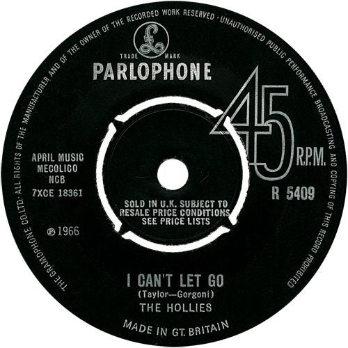 "The Hollies : I Can't Let Go (7"", Single)"