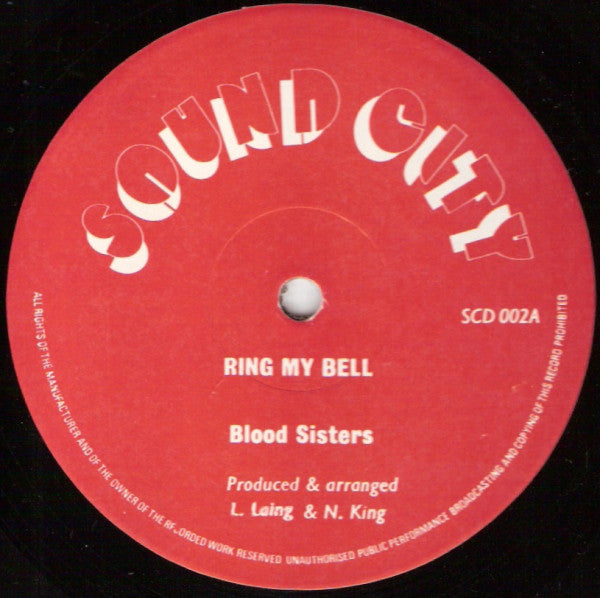 "Blood Sisters : Ring My Bell (12"")"
