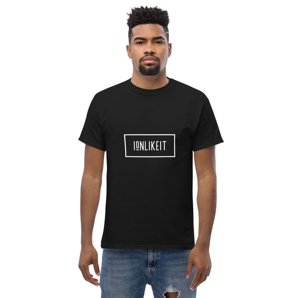 Ion Like It Men's heavyweight tee( White Logo)
