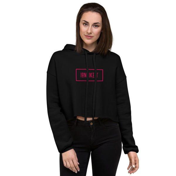 Ion Like It™ Crop Hoodie(Red logo)