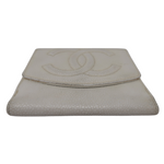 Chanel White Compact Wallet