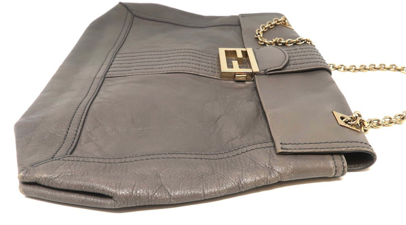 Fendi Gray Chain Bag