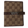 Gucci GG Brown Canvas Agenda Notebook