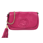 Gucci Fuchsia Soho Chain Flap Crossbody