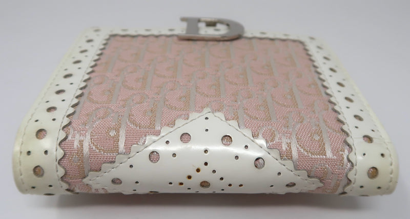 Dior Pink Leather Trim Wallet