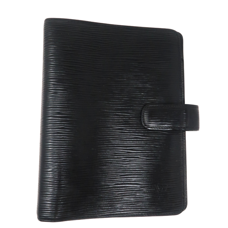 Louis Vuitton Black Epi Agenda MM