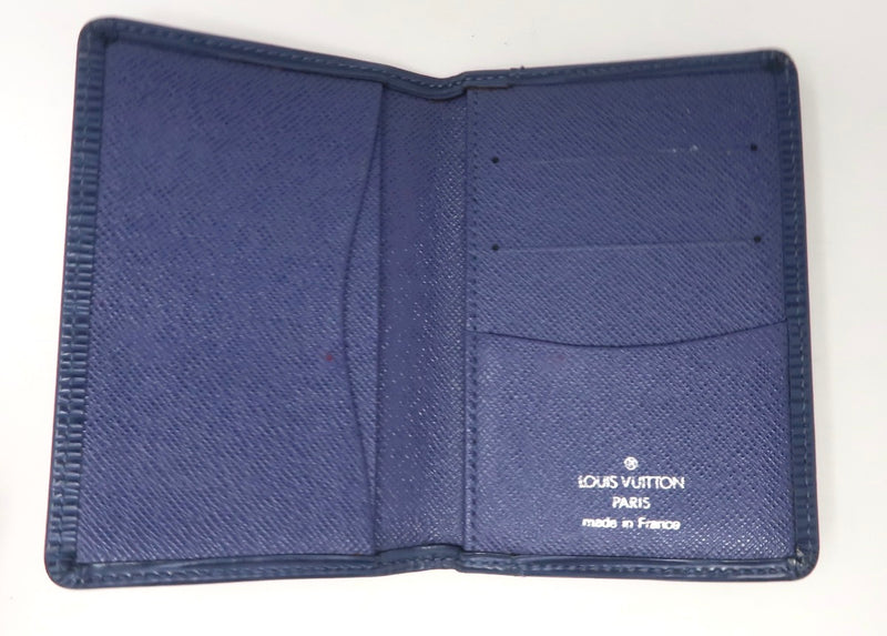 Louis Vuitton Blue Epi Pocket Organizer