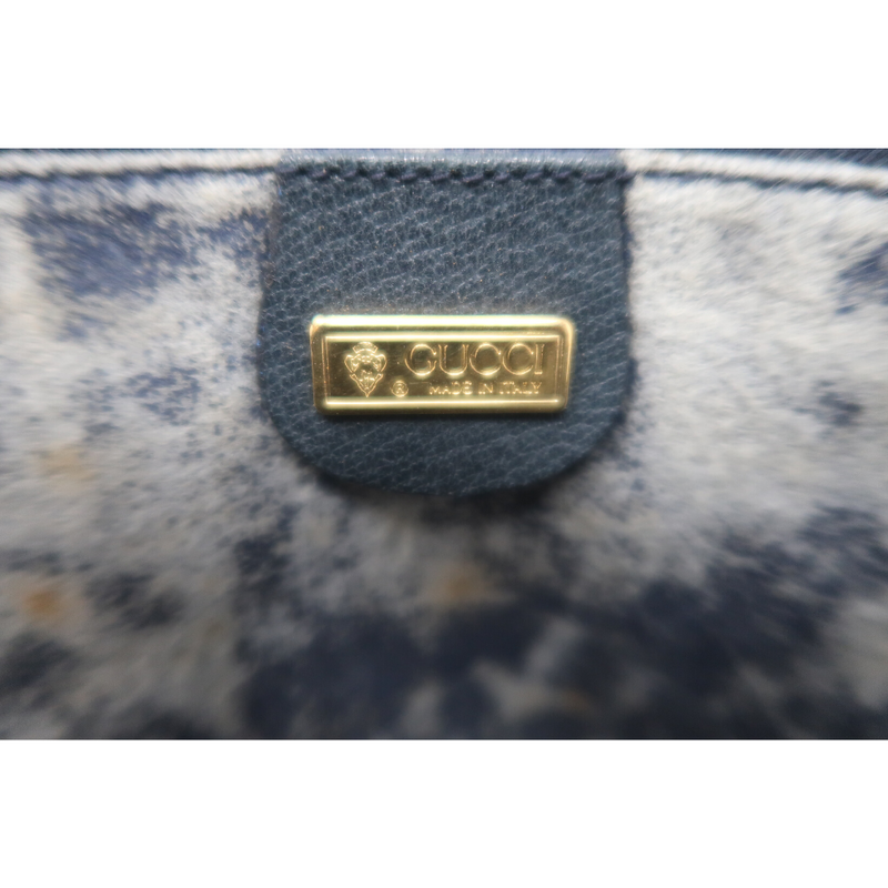 Gucci Vintage Blue Top Handle
