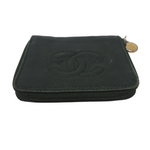 Chanel Black Caviar Compact Wallet