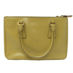 Prada Mini Saffiano Lux Tote Yellow