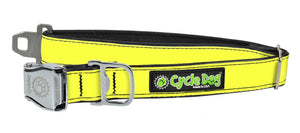 Cycle Dog RegWidth - Neon Yellow MAX Reflective Dog Collar - Large
