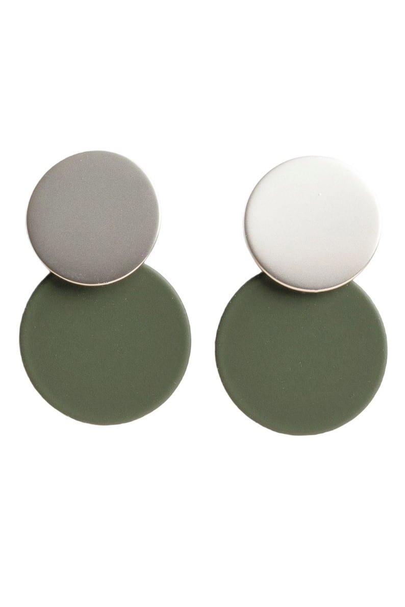 Stilen Millie khaki earrings