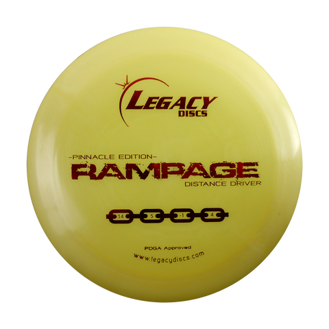 Legacy Pinnacle Edition Rampage Distance Driver Disc Golf Disc