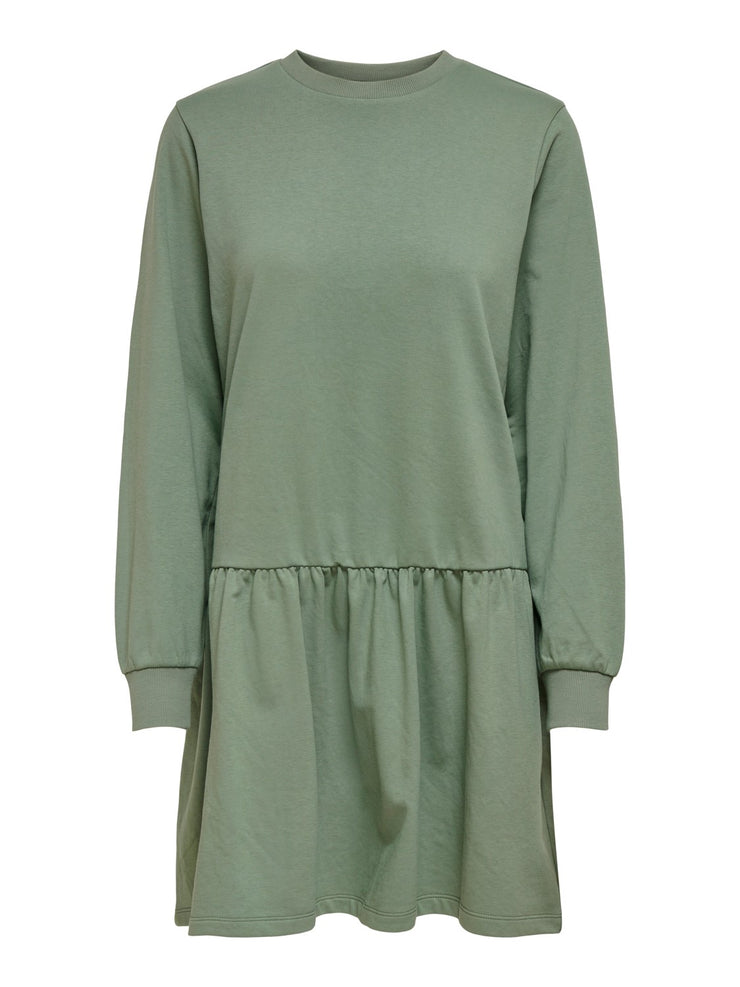 Nashville Sweatdress Groen - Jurk