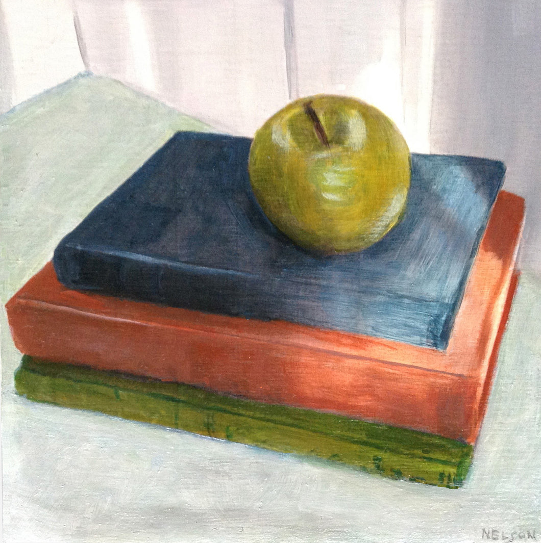 Apple and Three Books