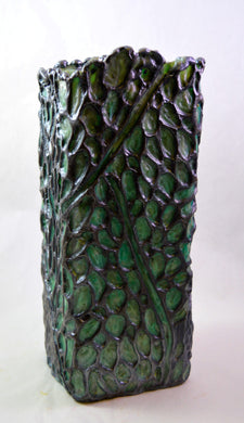 Encaustic vessel/ Encaustic sculpture created by Metis- Canadian artist Tracey-Mae Chambers