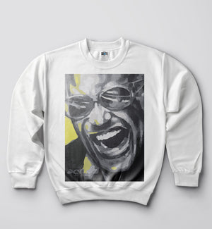 Ray Charles - Sweat Shirt - White