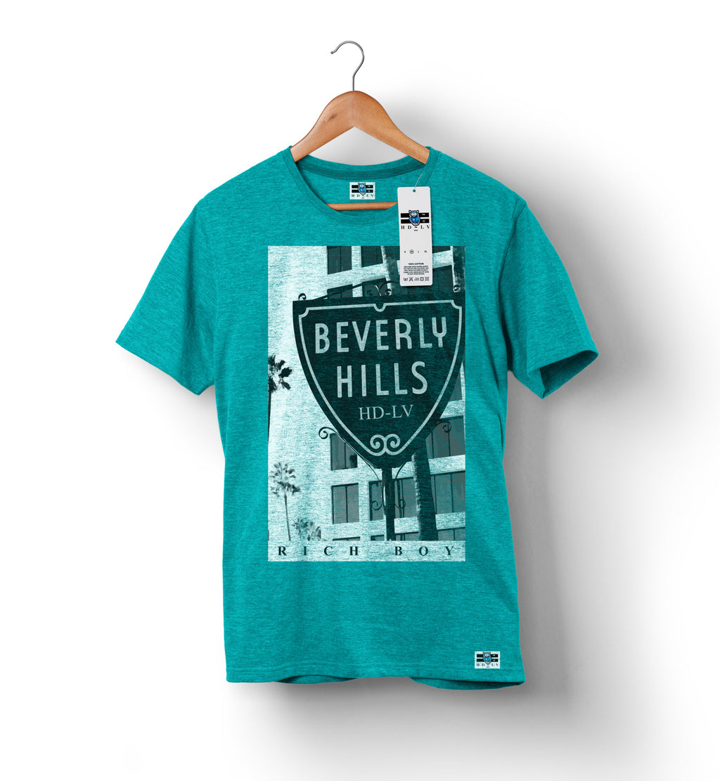 Beverly Hills - Teal | Custom Shirts for Men