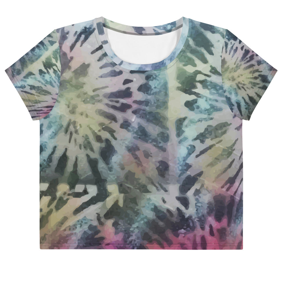 Black Tie Dye | Crop Top for Women