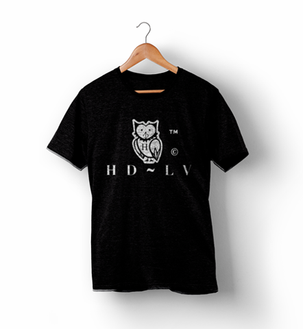 HDLV | Black Owl Logo Shirt - Black