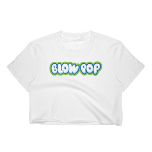 1990's Charms Blow Pop | White Crop Top for Women