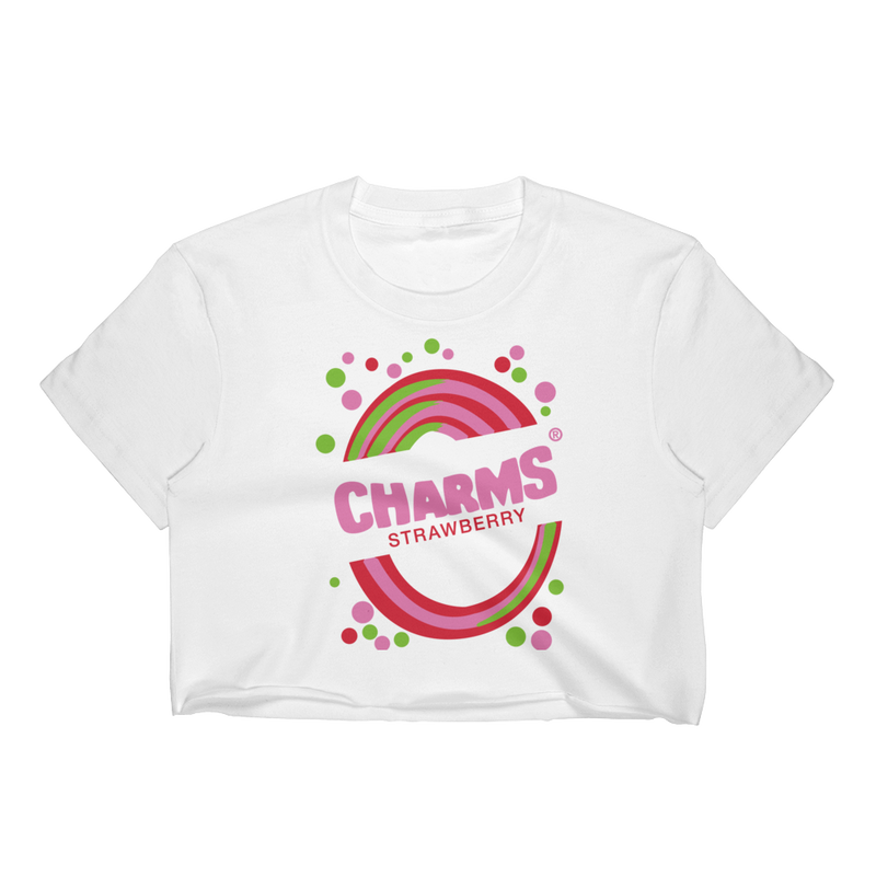 1990's Charms Blow Pop - Strawberry | Crop Top for Women