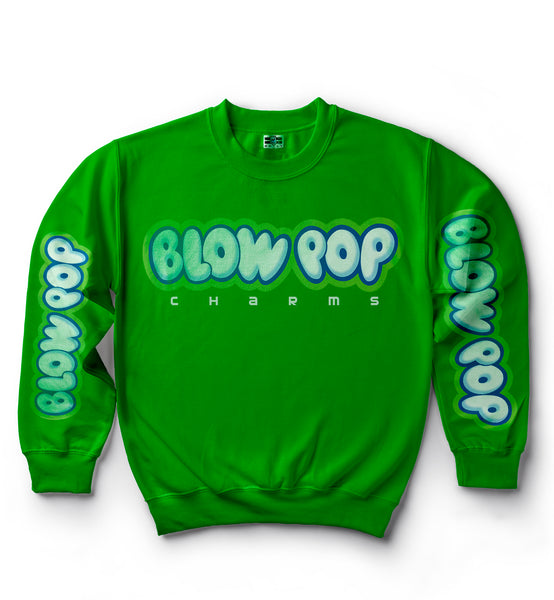 Charms Blow Pop Sweater - Candy Apple Green
