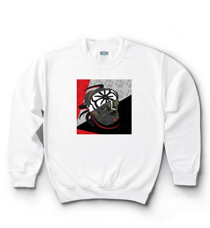 Karate Dog | Red, Black & Grey | Classic Crew Neck