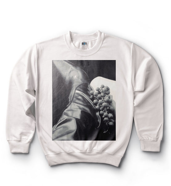 Wine Grapes and Boots  - Sweat Shirt - White