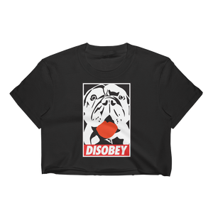DisObey | Black Crop Top for Women
