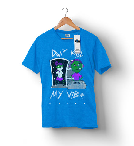 Don't Kill My Vibe - Heather Blue | Custom Shirts for Men