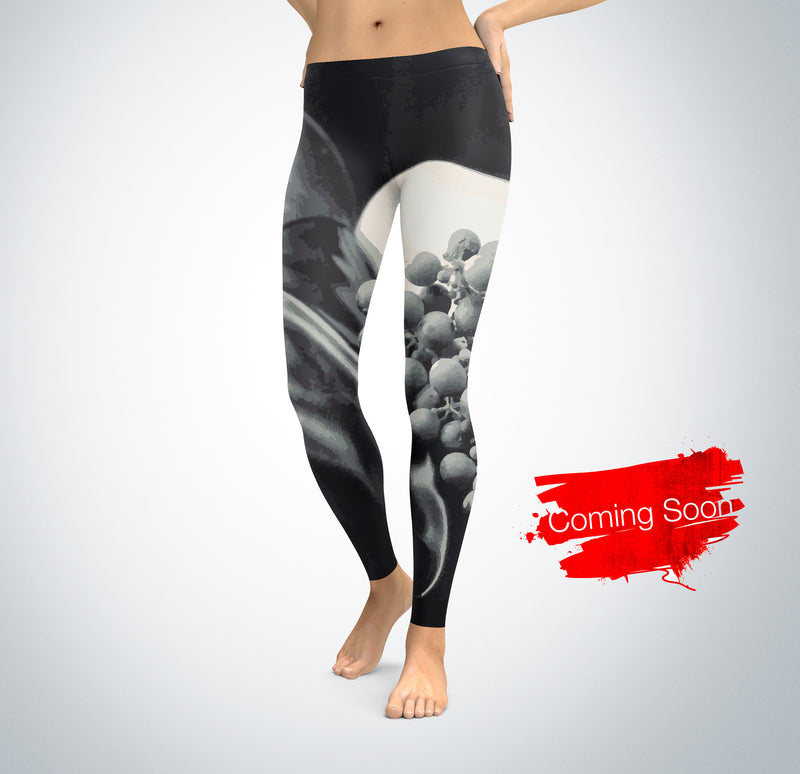 Grape Wine Leggings for Women