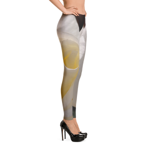 White Rose Leggings for Women
