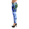 Blue Flower Leggings for Women