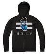 HD-LV  XO i Zip Up Hoodie i Black