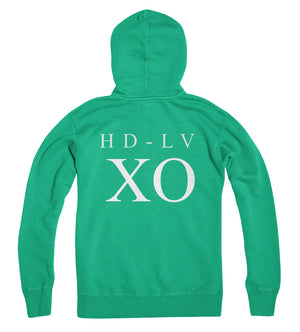 HD-LV  XO i Zip Up Hoodie i Ecto Green