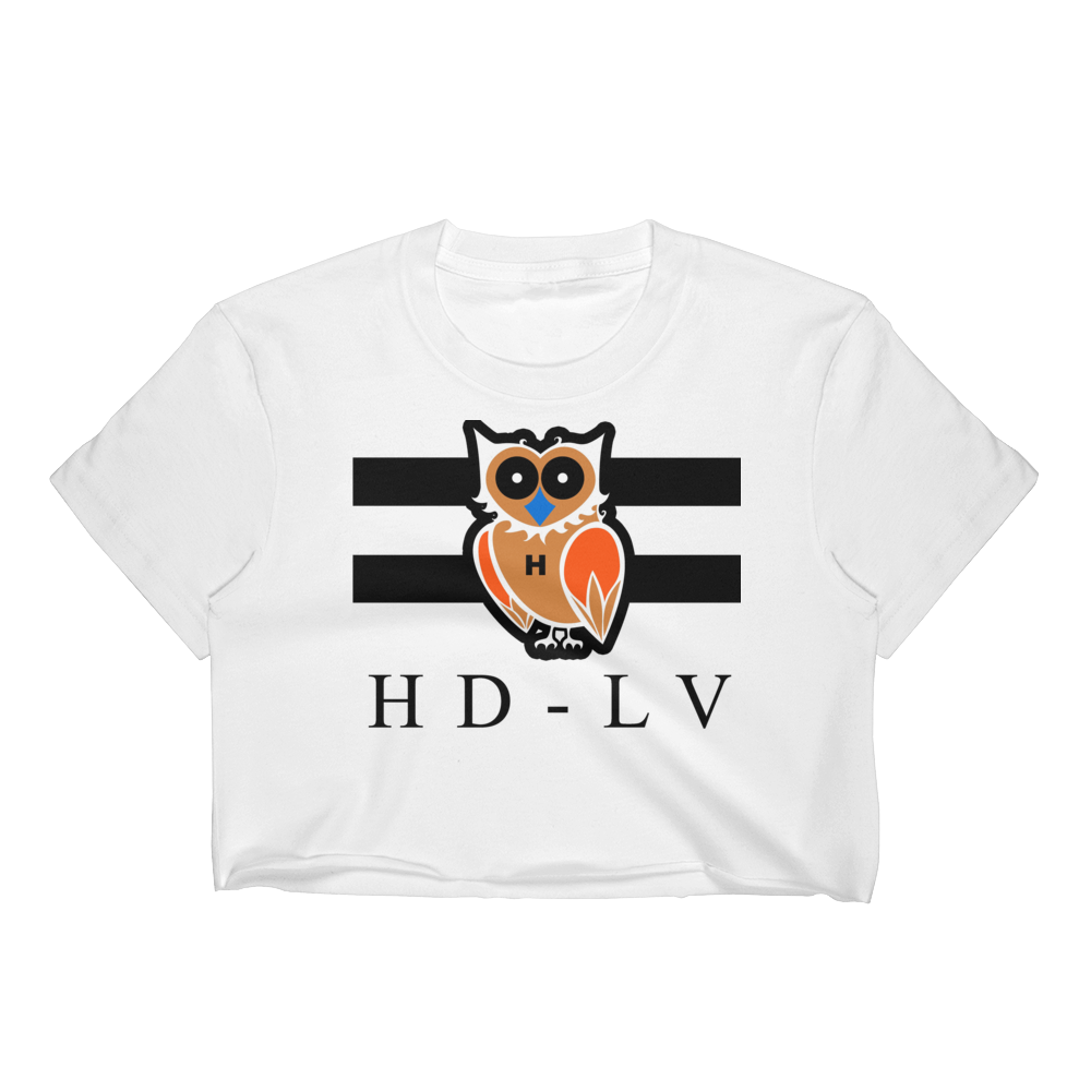 HD-LV Invert - White | Crop Top for Women