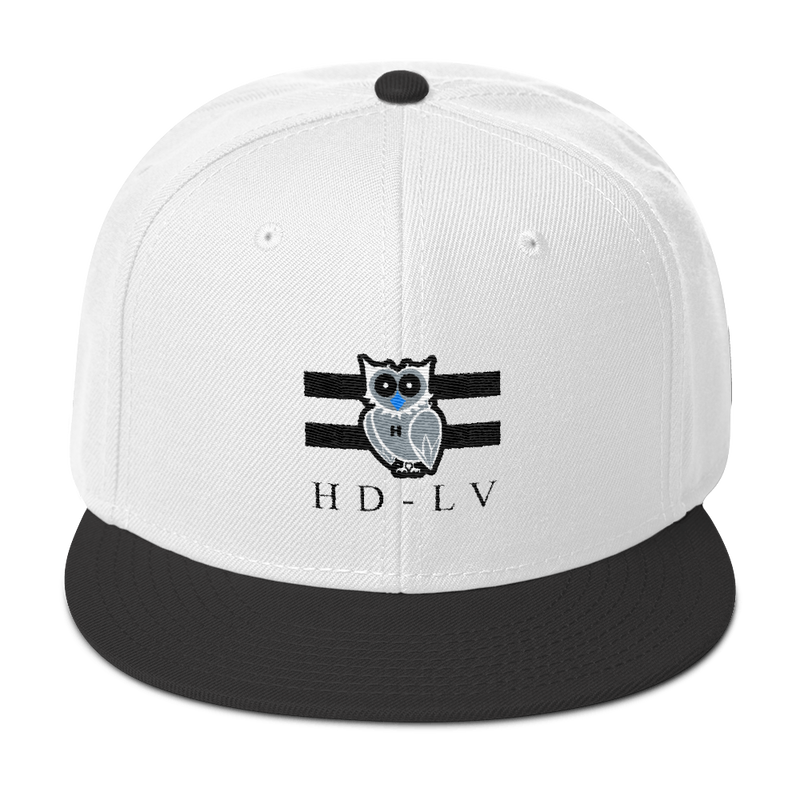 HD-LV Inverted Classic Snapback - White & Black