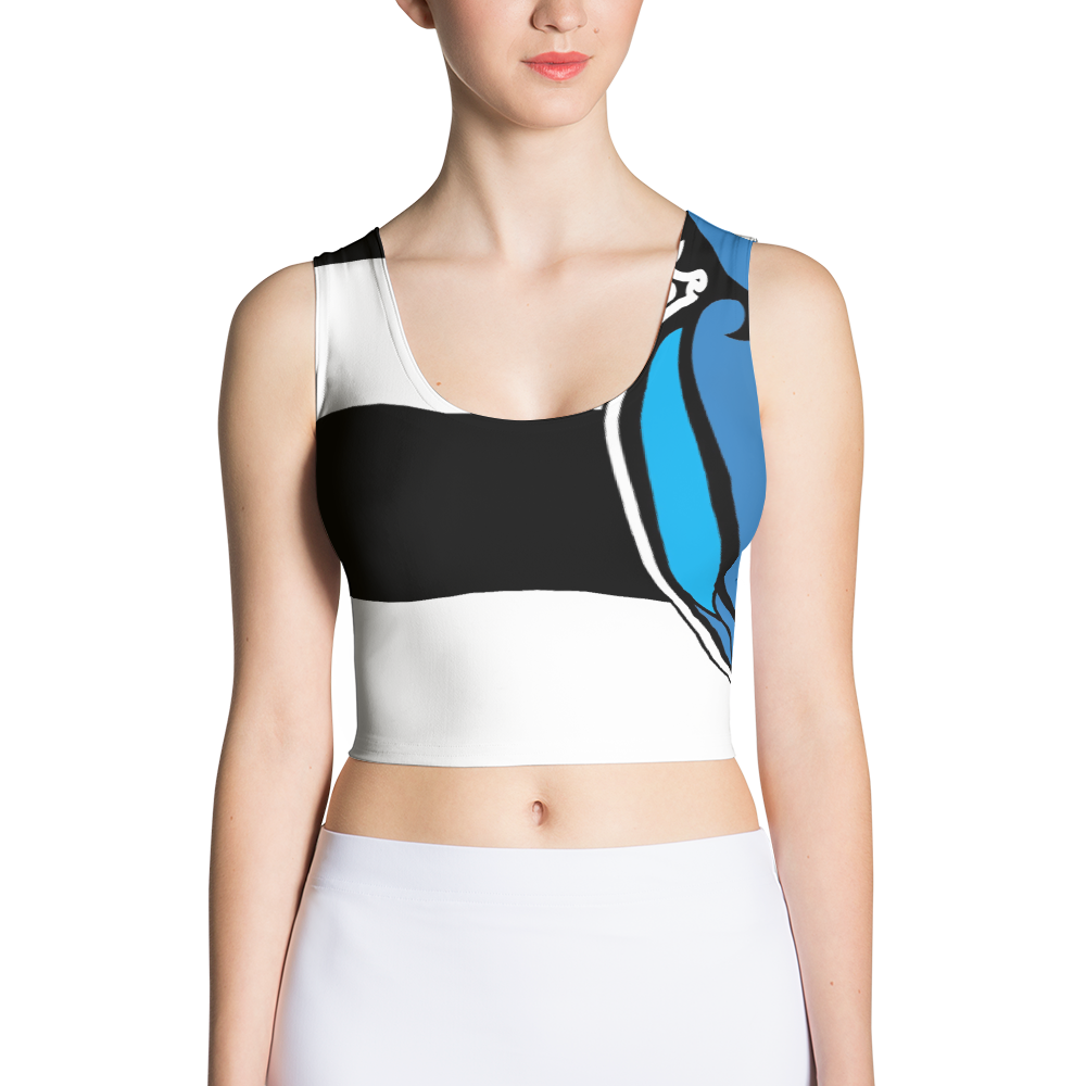 HDLV Stripe Crop Top For Women