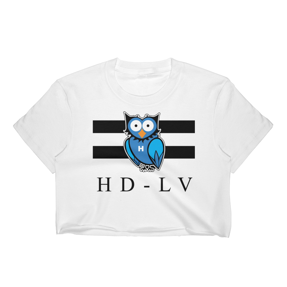 HD-LV - White | Crop Top for Women
