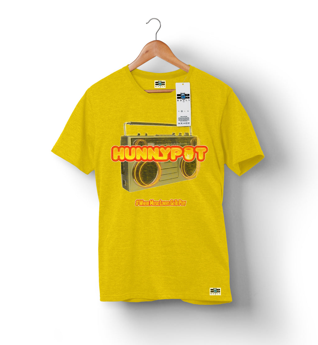 Hunnypot Radio - Gold | Custom Shirts for Men