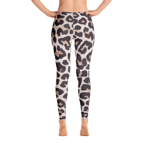 Modern White Leopard Leggings