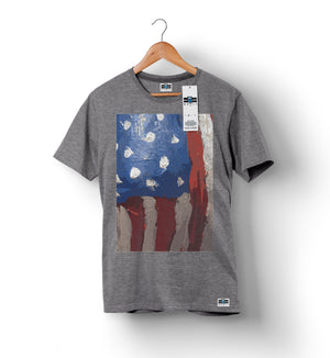 American Flag - Grey | Custom Shirts for Men