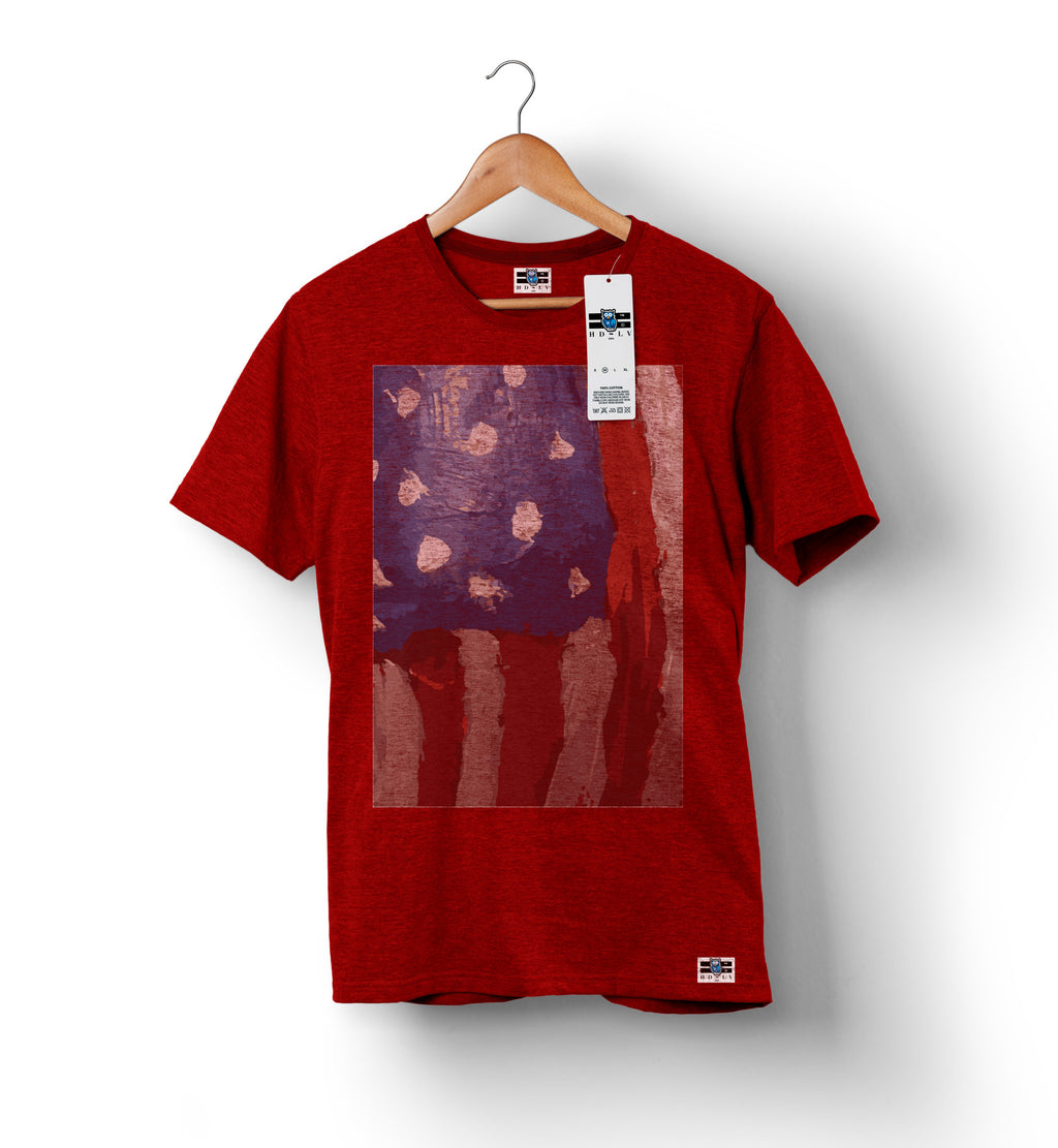 American Flag - Red | Custom Shirts for Men
